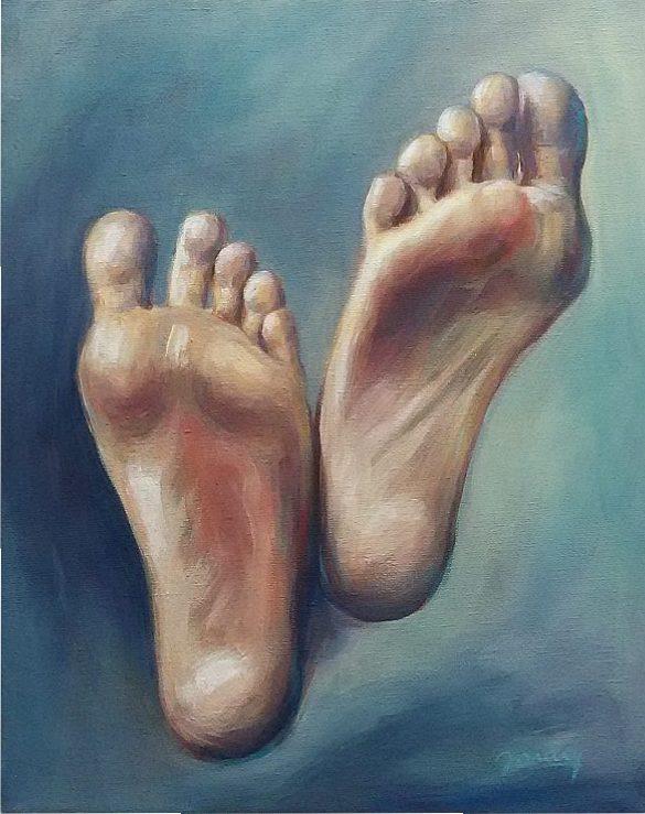 Füße Kunst Malerei Ölgemälde Painting