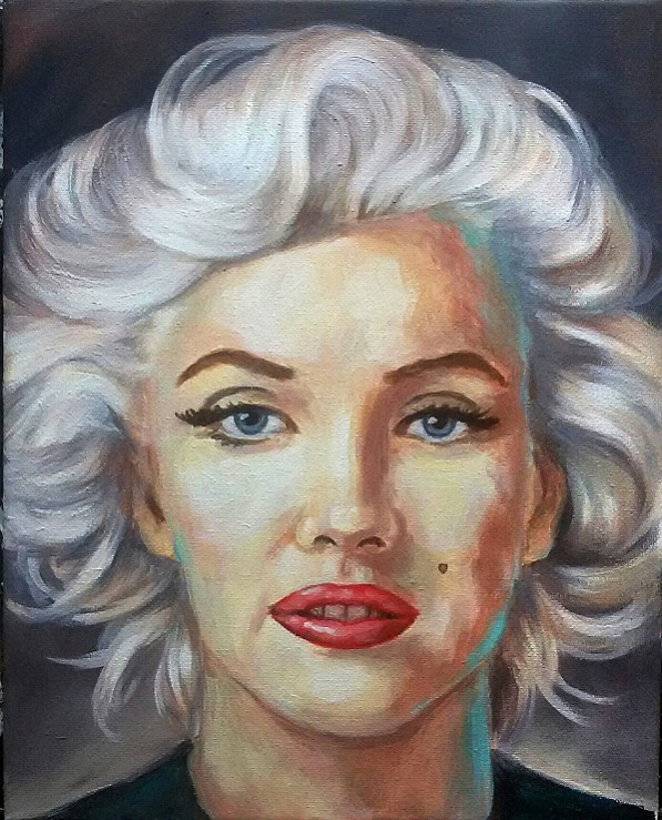 marilyn Portrait, Moderne Kunst, Malerei Gemälde Painting