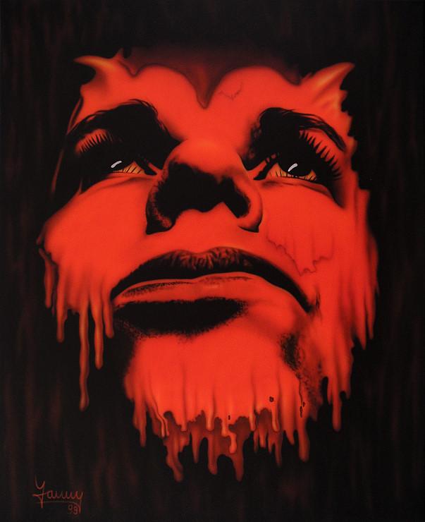 Teufel airbrush bild Kunst Malerei Gemälde Painting surrealistisch