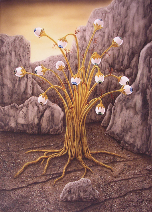 Golden Tree Kunst Malerei Gemälde Painting surrealistsich