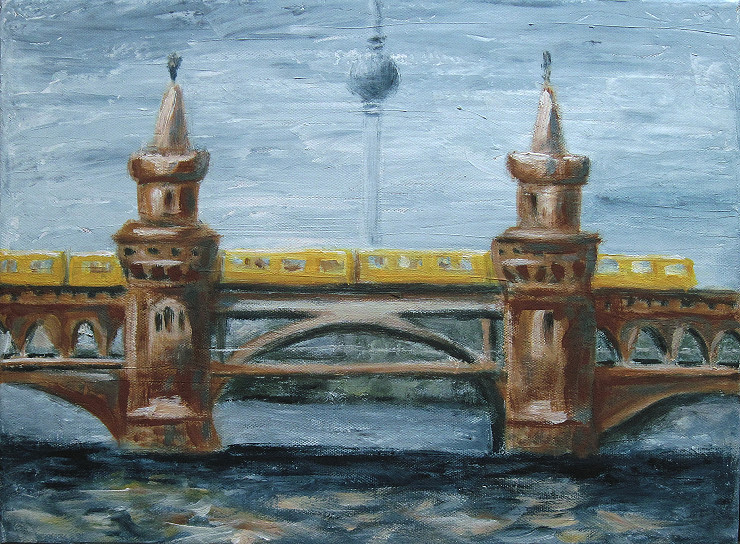 oberbaumbruecke, Kunst, Malerei Gemälde Painting