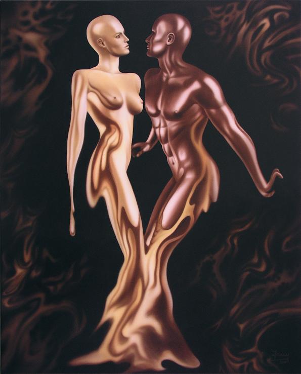 schoko und vanille Kunst Malerei Gemälde Painting surrealistisch akt