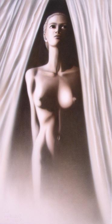 white satin Kunst Malerei Gemälde Painting