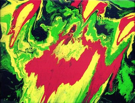 color3 Fluidpainting abstrakt, Gemälde