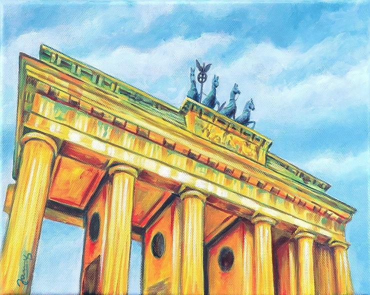 Brandenburger Tor Berlin Moderne Kunst Gemälde Painting Acryl