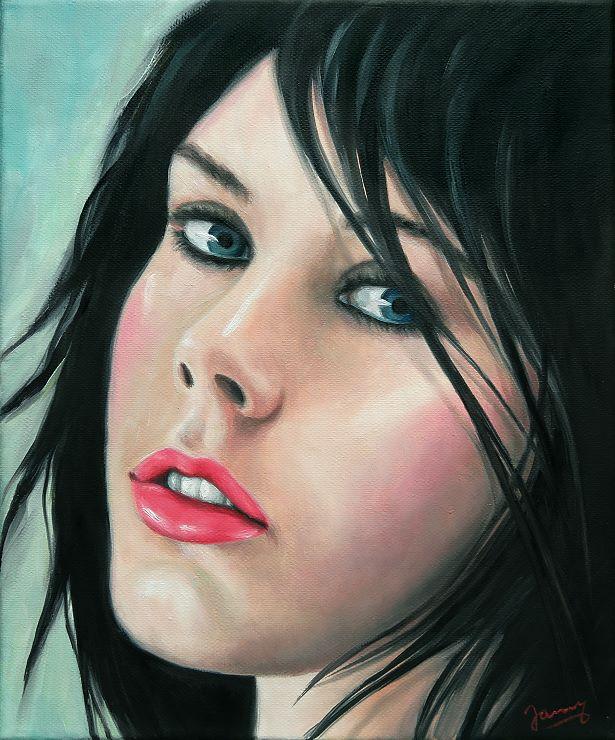 Christina Portrait Kunst Ölbild Painting auf Leinwand