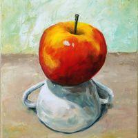 Apfel auf Tasse