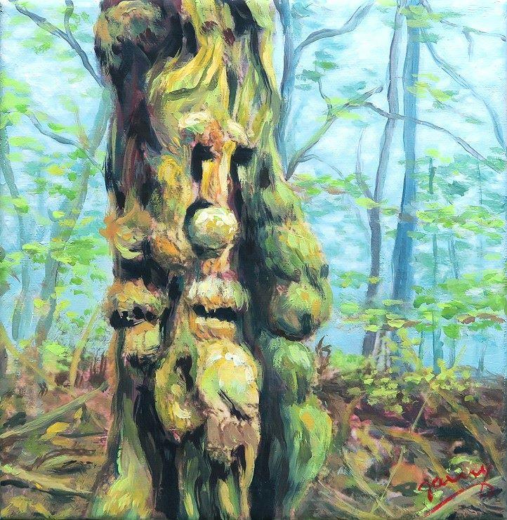 waldgeist Kunst Gemälde Acrylbild Painting auf Leinwand