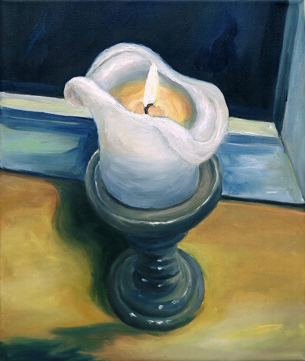 Candle Gemälde Moderne Kunst Ölmalerei Painting
