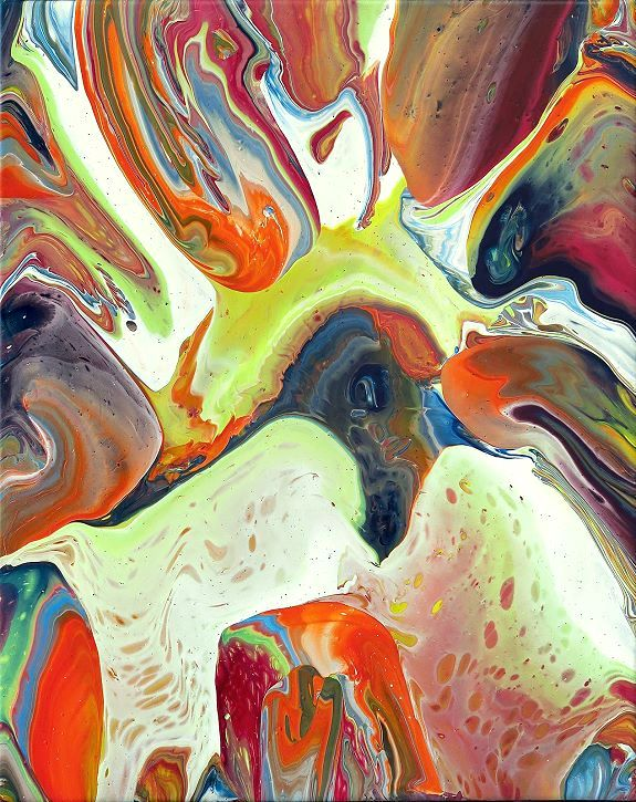 Fluid painting Moderne Kunst Malerei Painting abstrakt
