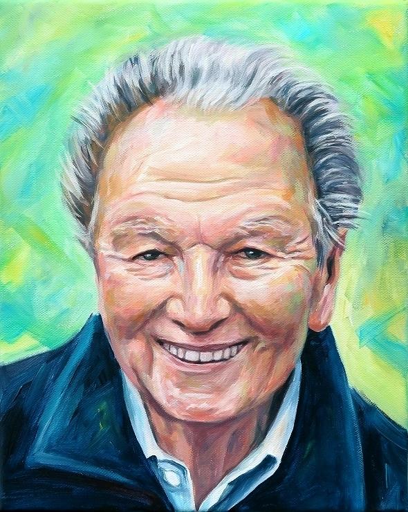 Portrait auf Leinwand Kunst Malerei Acryl