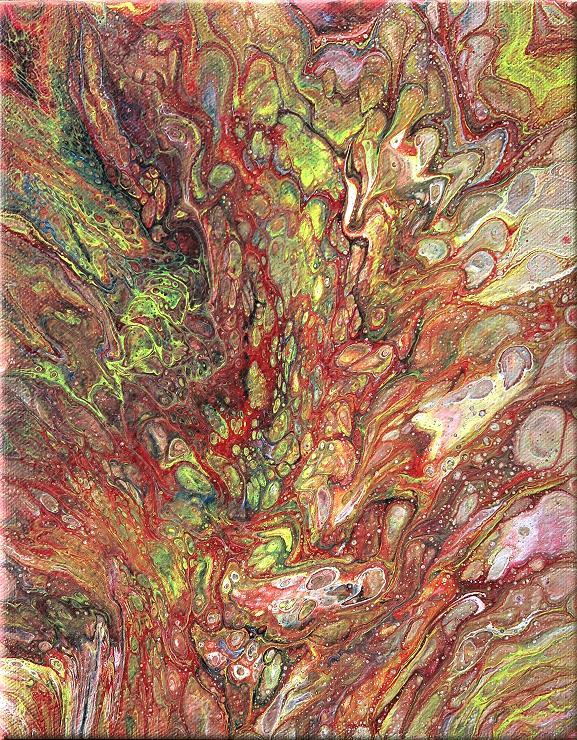 fluid painting moderne kunst acrylbild malerei