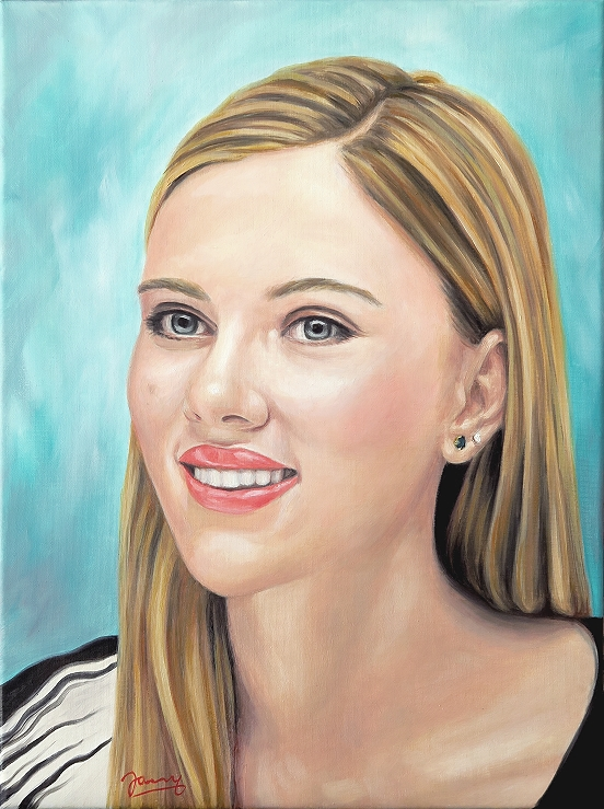 Scarlett ölgemälde kunst malerei portrait