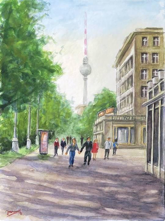 berlin Aquarell malerei kunst malerei gemälde