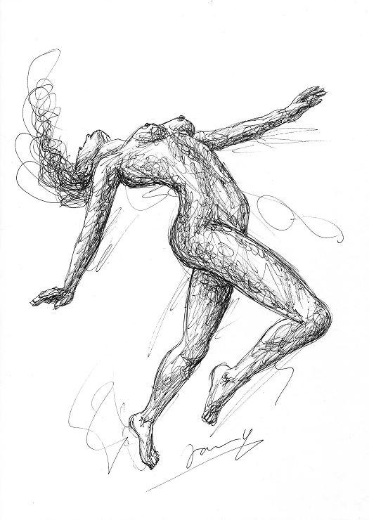 lost in music scribble Zeichnung Kunst Malerei