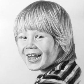 Portrait Kohlezeichnung