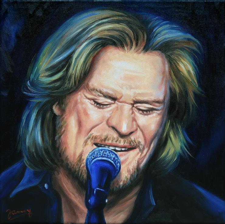 Daryl Hall Fanart Portrait Painting