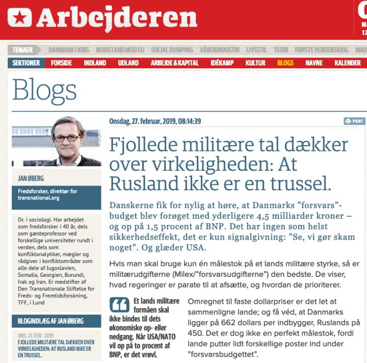 Fjollede militære tal dækker over virkeligheden: At Rusland ikke er en trussel