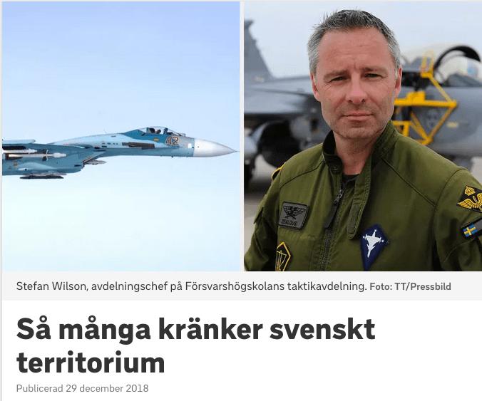Hvem krænker svensk territorium?