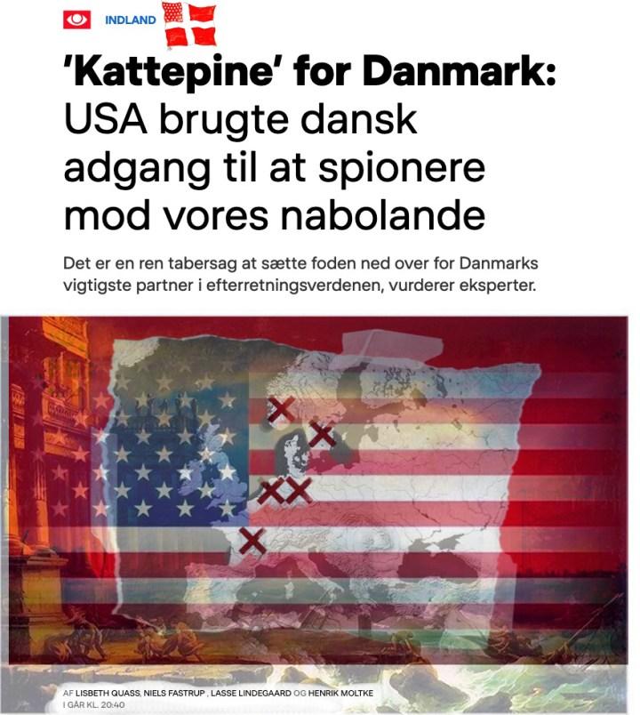 """DR næsten ikke til at bære: Danmarks """"kattepine"""" med USA, NSA og FE"""