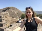 Pyramids near Mexico city Teotihuacan Pyramids