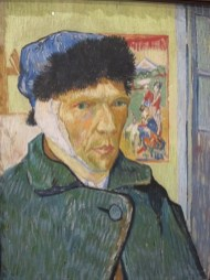 Self portrait with bandaged ear, 1889, Vincent Van Gogh. Photo from: Tandem Exposition Inc.
