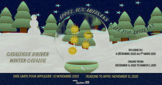 Puces POP Montreal online holiday market promo poster