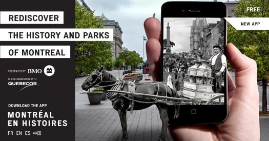 Montreal en Histoires app promo poster