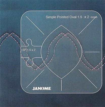 Janome Ruler Work Kit Simple Pointed Oval