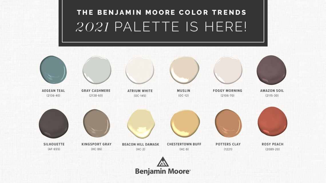 The Benjamin Moore Color Trends 2021 Palette is Here ...