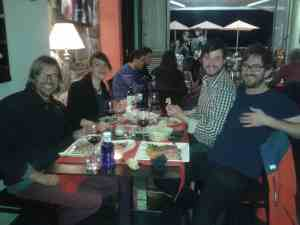 Essen m Lennart, Silke und Marcos