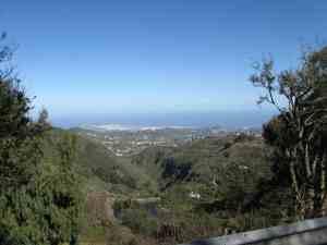 Las Palmas aus den Bergen gesehen