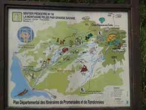 Wanderkarte Mont Pelee