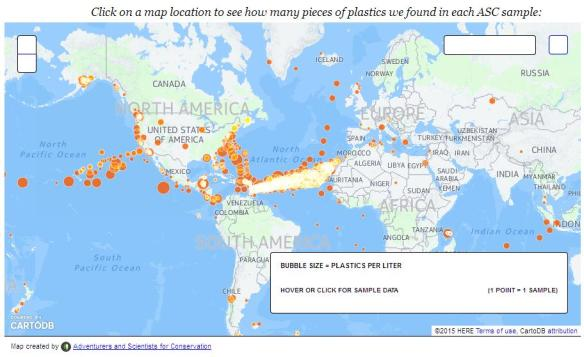 Map of Microplastic samples