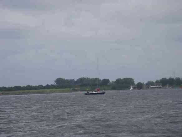 Segelboot auf der Schelde