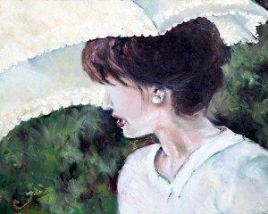 Lady with a Parasol Web