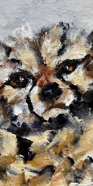 impressionism painting cheetah cub award winning artist