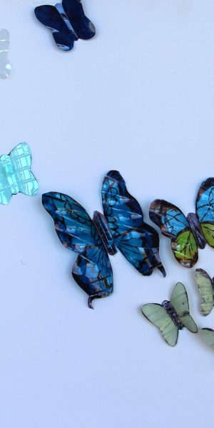 recycled plastic water bottle butterflies sustainable art