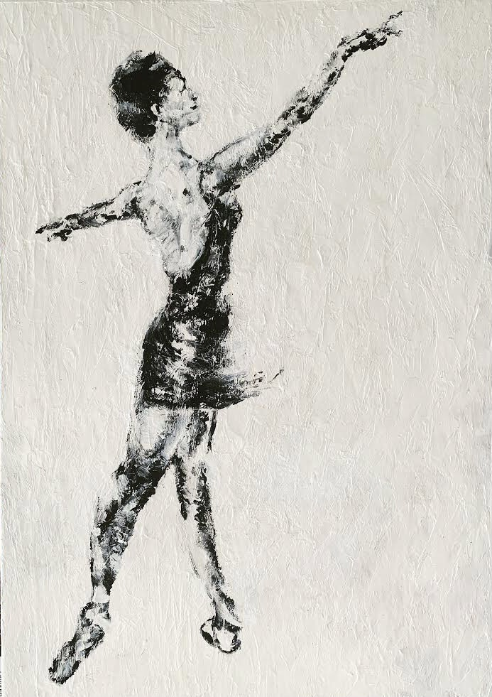 impressionist painting ballet dancer