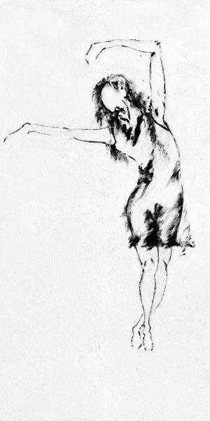 Line Art Dancer Abstract Art