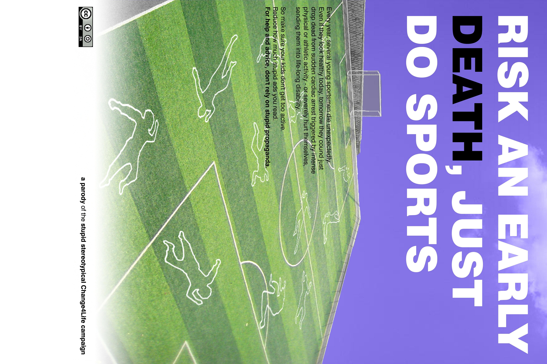 Fußball tötet (Druckversion 60x40)