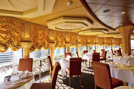 Le Muse, the restaurant for MSC Yacht Club guests only where three meals a day are served