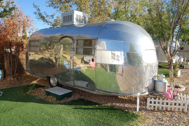 A 1949 Airstream at The Shady Dell in Arizona