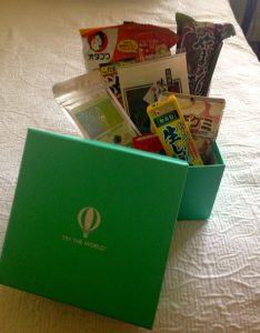 The Try the World box from Japan. Good thing I have an English book to translate what the products are.