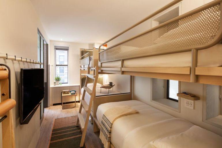 quad bedroom Moxy NYC Times Square