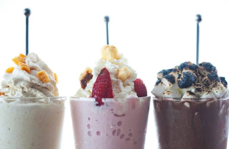 milkshake at Flip restaurant
