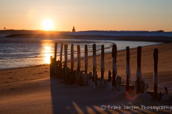 Sunset on a Cold Beach