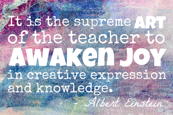 Einstein Quote art of teaching