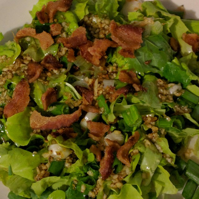 wilted salad