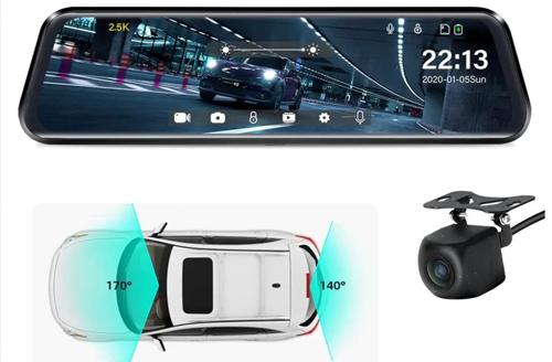 Видеорегистратор Jansite - сенсорный экран, камеры переднего и заднего вида
